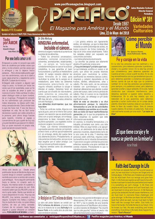 Revista Pacifico Nº 381 Variedades Culturales