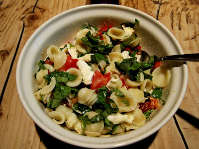 Orecchiette with Mozzarella & Tomatoes: dinners for nights on the go to games, practices and other family activities