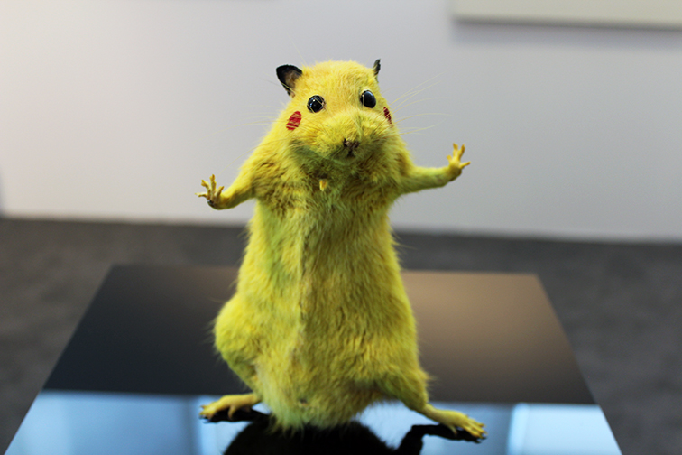 Yellow hamster, Japanese gallery, Miami Art Basel 2014