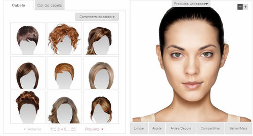 Simulador de cabelo online Veja como funciona