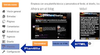 Edicion en HTML Blogger