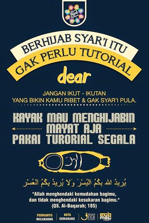 Kayak Mau Menghijabin Mayat aja Pake tutorial Segala -_-