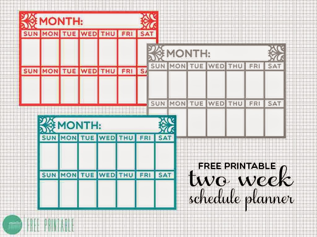 Diy Weekly Calendar : Diy two week schedule desk planner a free printable