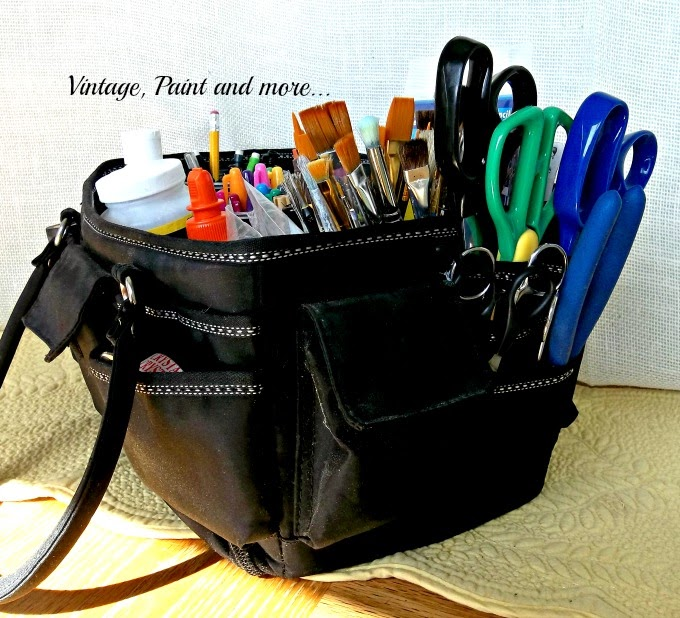 Craft Tool Organization - ways to store craft tools, organizing craft tools, craft scissor organizing