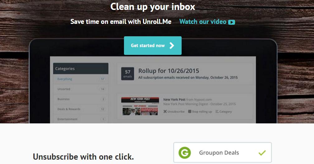 Unroll 快速退訂電子報! Google人也推薦的郵件清理