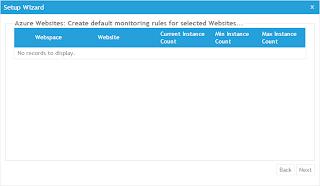 選擇要使用AzureWatch服務的WebSites