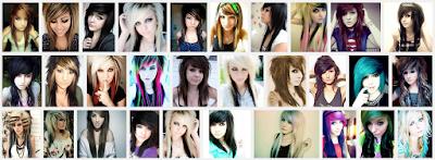 model gaya rambut emo pendek dan panjang pria dan wanita