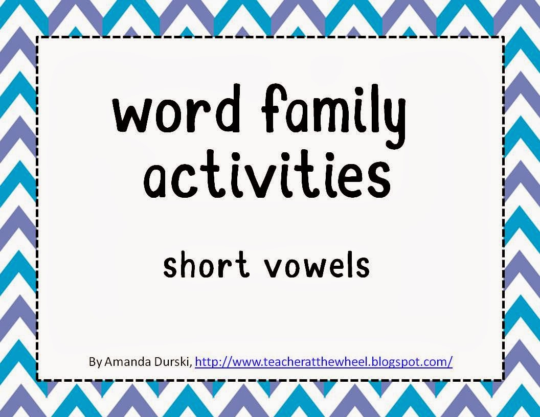 http://www.teacherspayteachers.com/Product/Word-Family-Activities-Short-Vowel-BUNDLE-1056972