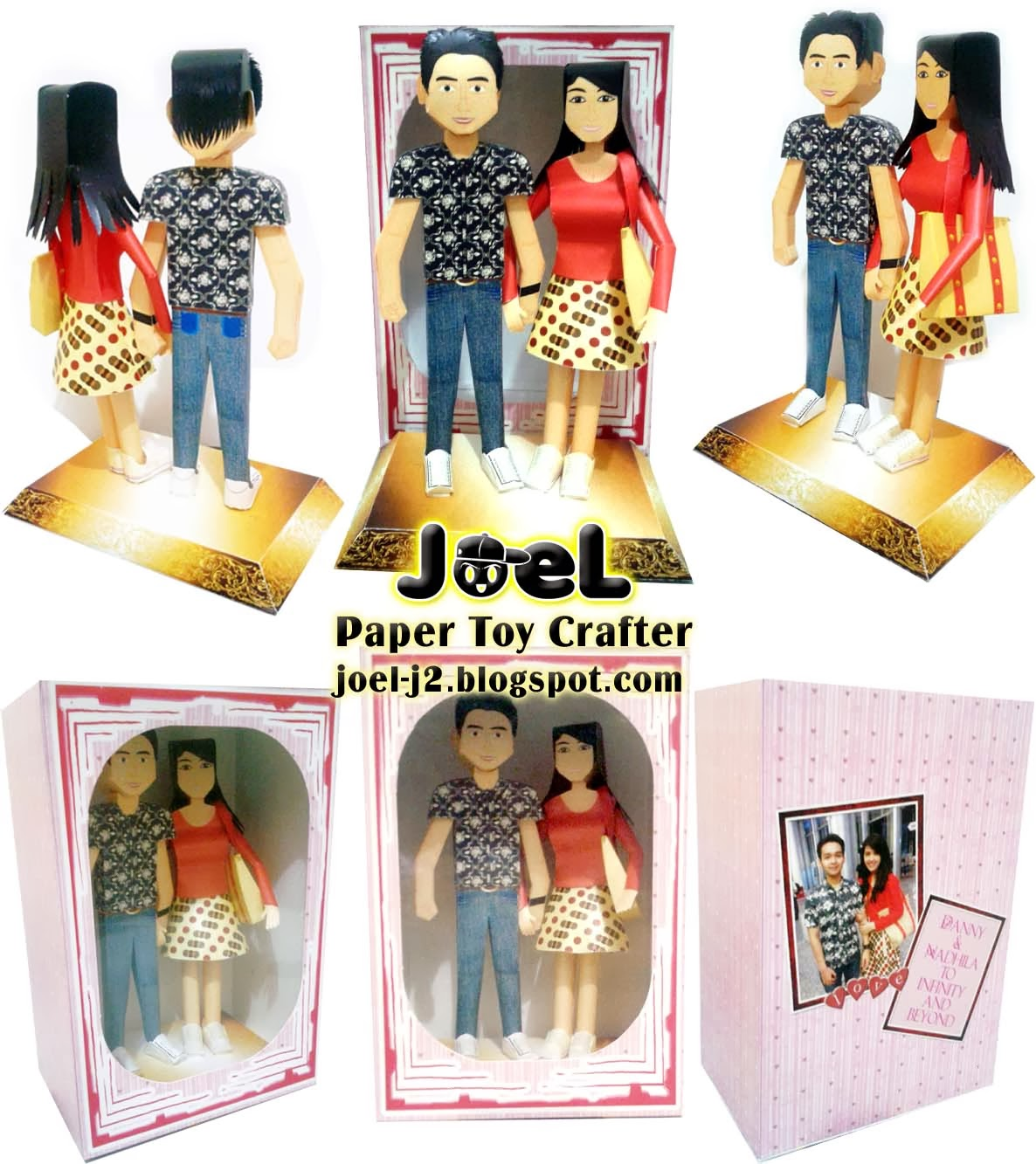 Couple papertoys