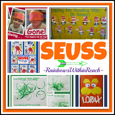 Dr. Seuss RoundUP of ideas at RainbowsWithinReach