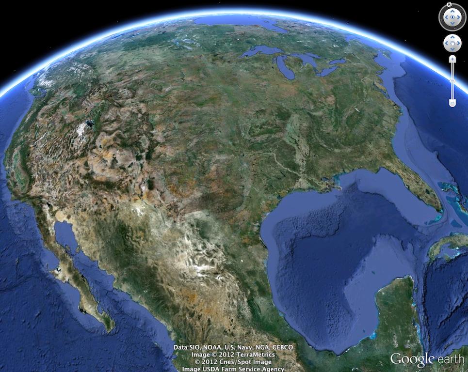 google earth imagen mundo: