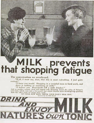 vintage 30s ad about drinking milk