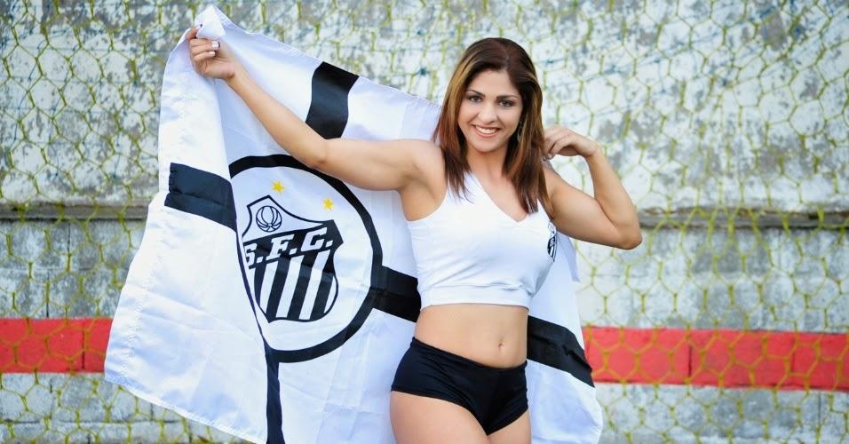 Dri Carvalho, Bela da Torcida do Santos Futebol Clube (2014)