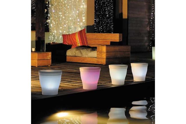 Pot lumineux : decoration maison et jardin pot lumineux Led