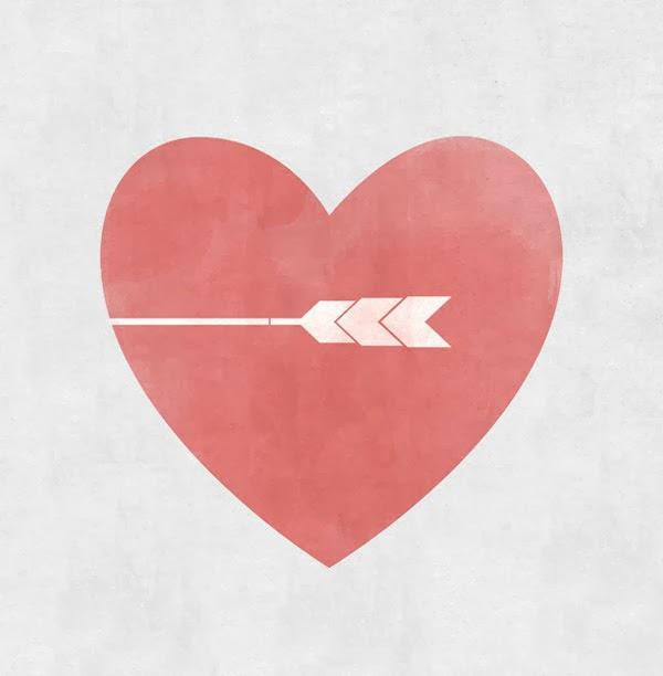 Simple valentine wall art