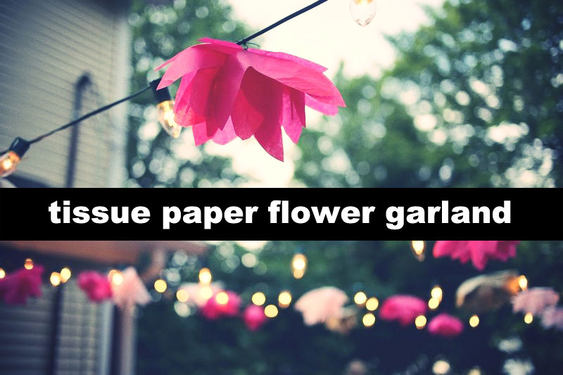 Diy tissue paper flower garland trashion helsinki diy tissue paper flower garland mightylinksfo