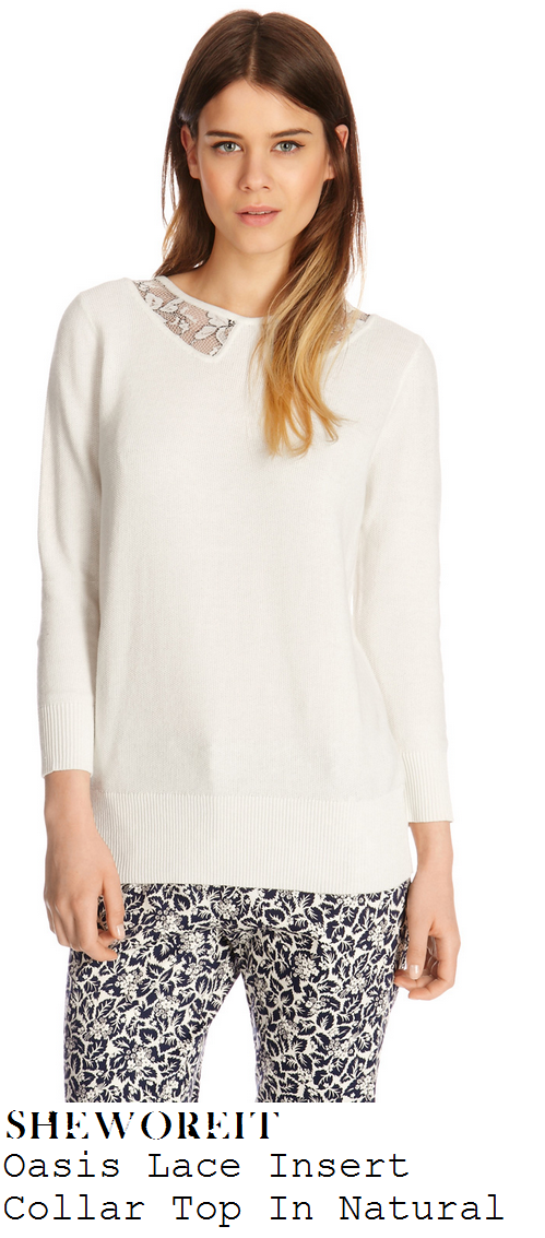 laura-whitmore-off-white-natural-sheer-lace-colar-detail-jumper-top-this-morning