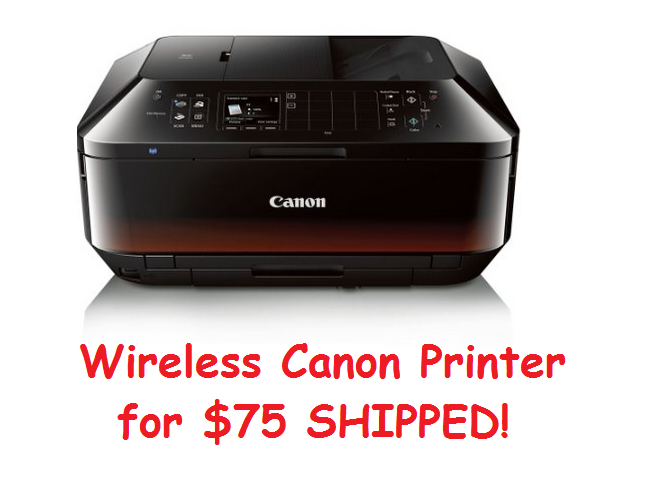 Get the WIRELESS Canon PIXMA MX922 All-in-One Inkjet Photo Printer for $74.99 SHIPPED
