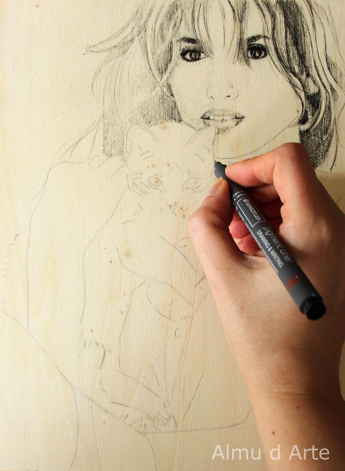 Hacer un retrato femenino en blanco  y negro
