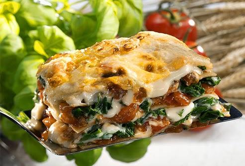 lasagne vegetariane ai formaggi (clicca e condividi)