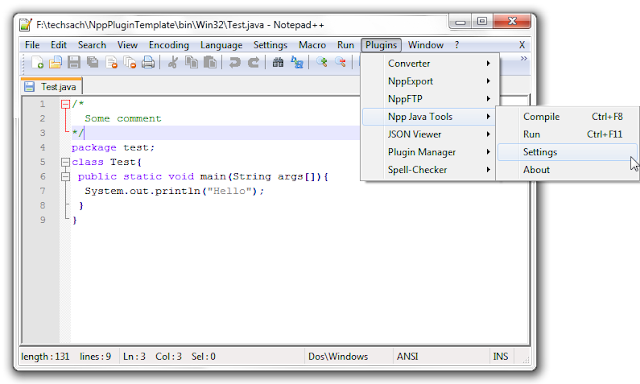 Notepad++ Java Compiler Plugin
