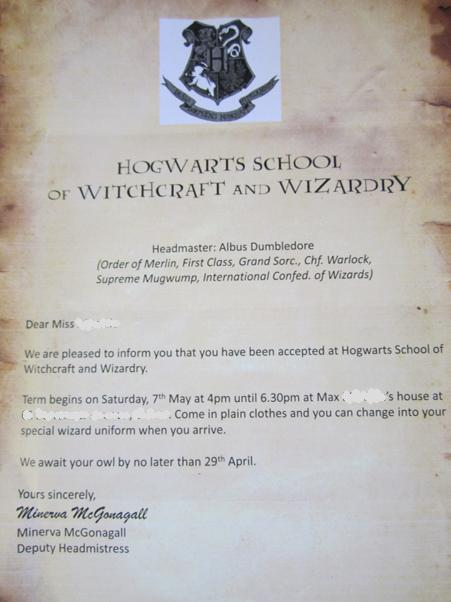 the invitation to attend hogwarts school of witchcraft and wizardry was despatched by owl delivery - Harry Potter Party Invitations