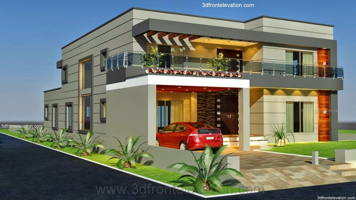 3d front 1 kanal old style house convert in for House design service