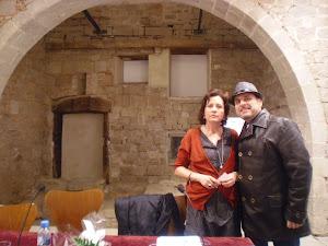 En la presentación de Haikus con María de Luis
