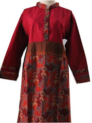 Model Gamis Batik Kombinasi Printing Katun Prisma Murah