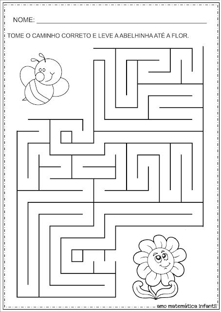 Atividades com Labirintos para Educação Infantil