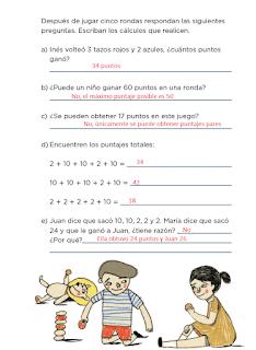 Respuestas Apoyo Primaria Desafíos matemáticos 2do grado Bimestre 1 lección 8 Los tazos