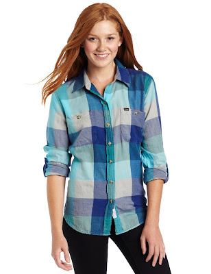 Hurley Wilson Women's Flannel Shirt Clothing