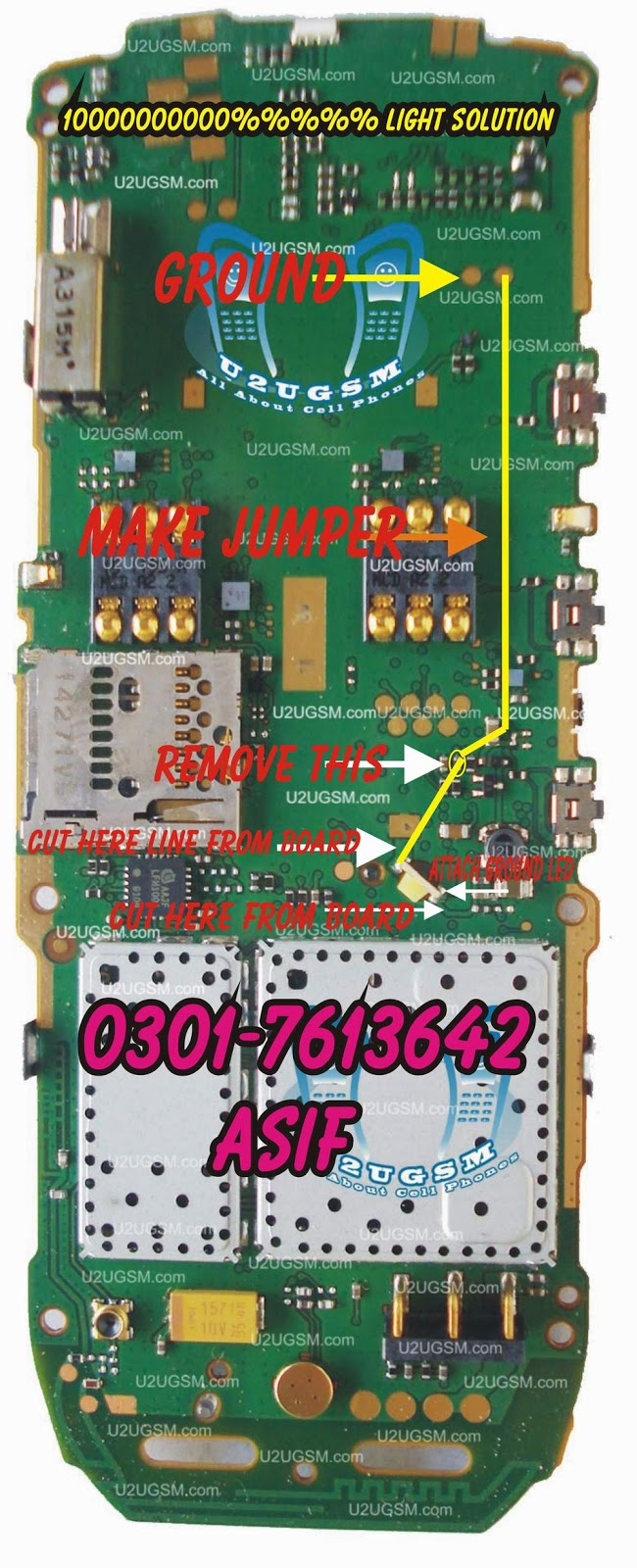 Nokia X1-01 light solution 1000% working solution