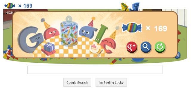 Google's 15th Birthday Game