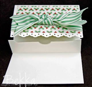 Holly Berry Specialty Papers Gift Card Holder Inside