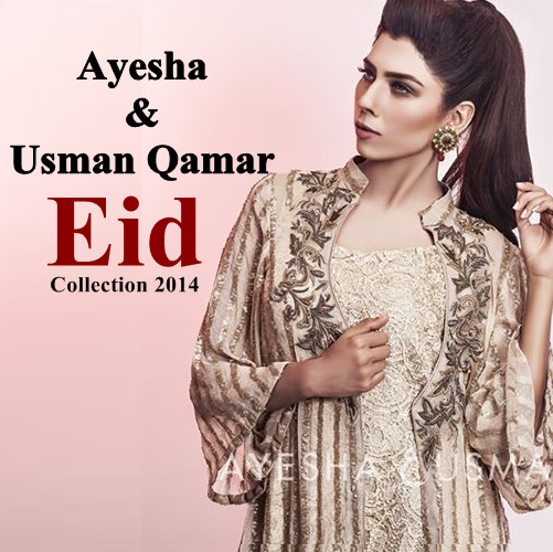 Ayesha and Usman Qamar Eid  Dresses 2014