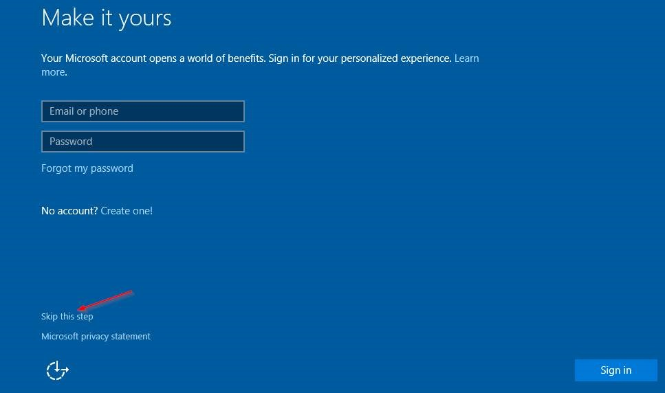 where to create microsoft account