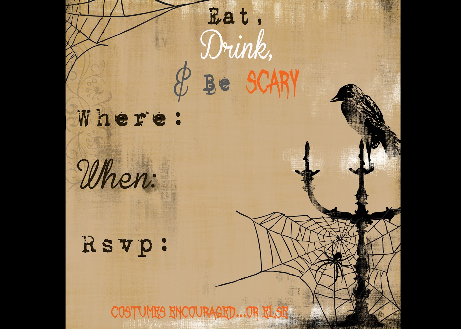 Free Halloween Party Invite DIY — Crafthubs