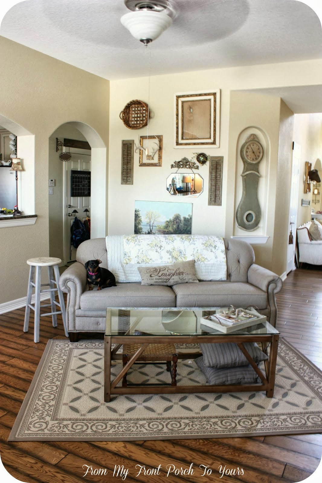 from my front porch to yours: french farmhouse living room reveal