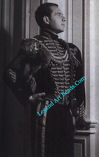 Fulco's cousin, Baron Ugo Oddo, in hussar's uniform for a ball given by Nicky de Gunzburg in Paris in 1934.