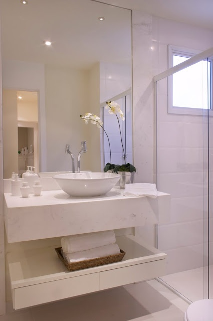 Tudo pode ser organizado Banheiro organizado -> Pia De Banheiro Alvenaria