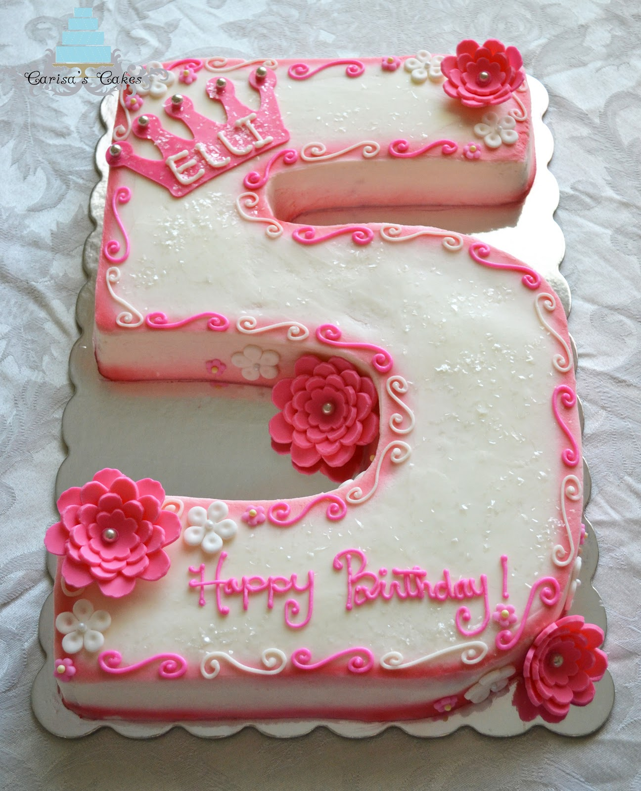 Carisa S Cakes 5 Shaped Birthday Cake