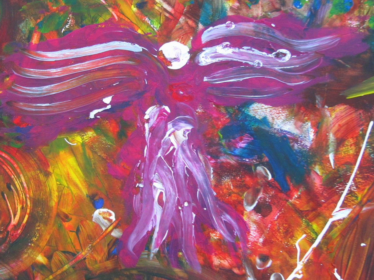 painted pink angel