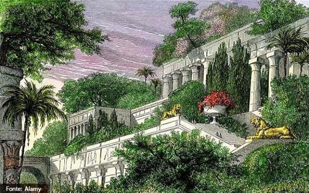 ter encontrado a localização dos Jardins Suspensos da Babilônia
