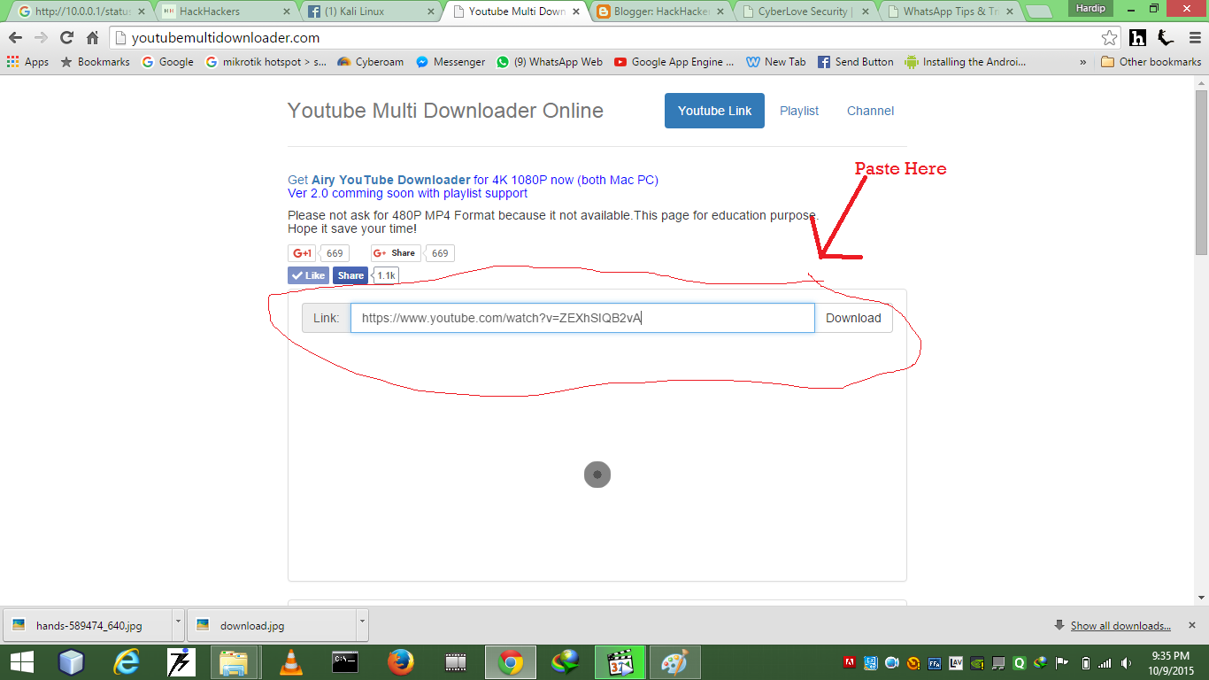 How to download youtube video without any software step 5 it will take some time once your video is load click on download button ccuart Image collections