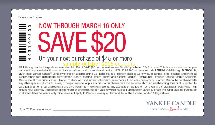 Yankee freedom discount coupons