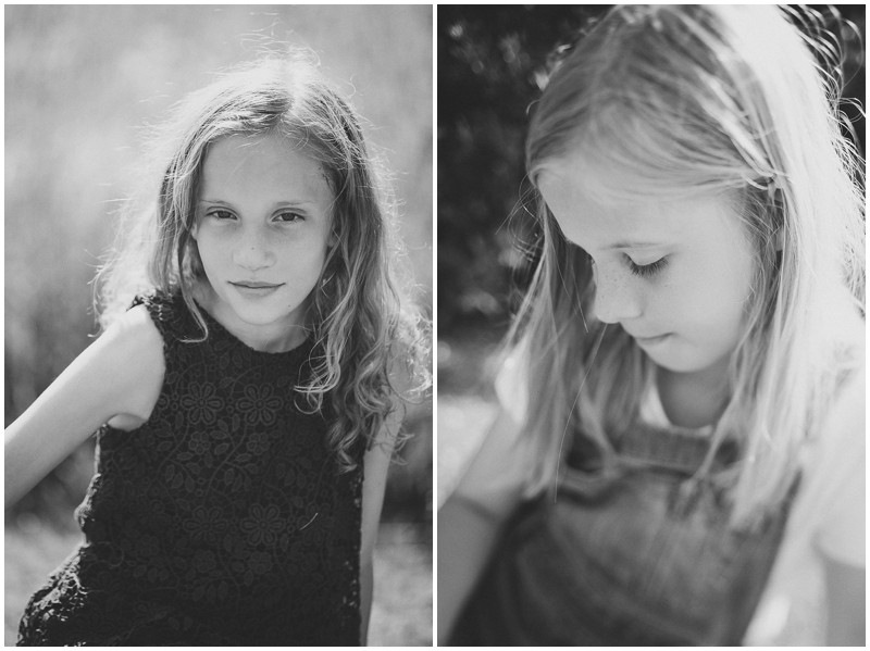 Black & white portraits of two sisters