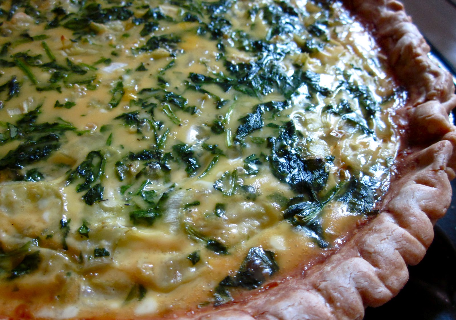 spinach and cheese quiche spinach bacon and blue cheese quiche