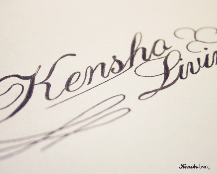 Simple calligraphy kensholiving