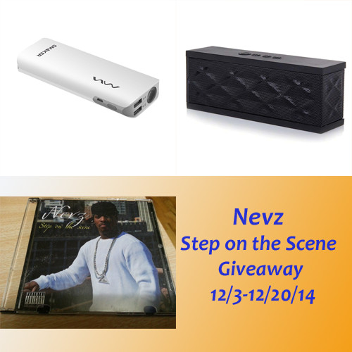 Enter the Nevz: Step on the Scene Giveaway. Ends 12/20/14.